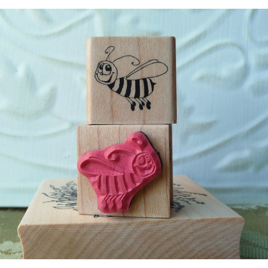 Harry the Bee Rubber Stamp