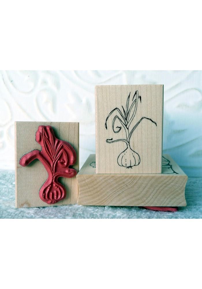 Garlic Rubber Stamp
