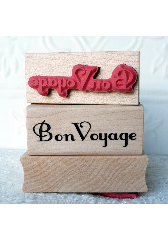 Bon Voyage Rubber Stamp