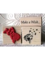 Dandelion Wish Flower Rubber Stamp
