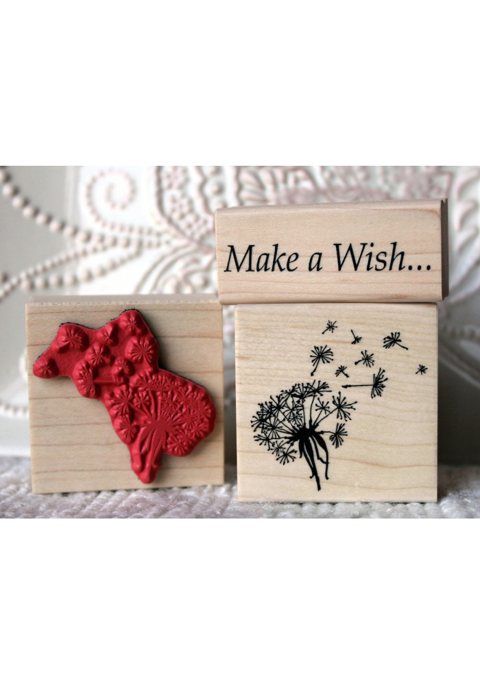 Dandelion Wish Flower Rubber Stamp