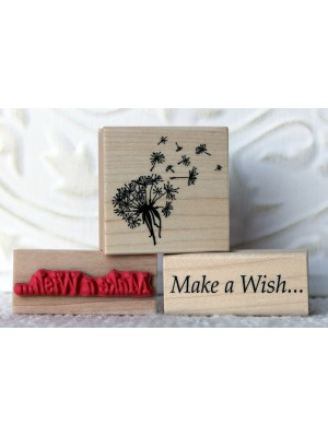 Make a Wish Rubber Stamp
