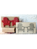 Adirondack Chairs Rubber Stamp