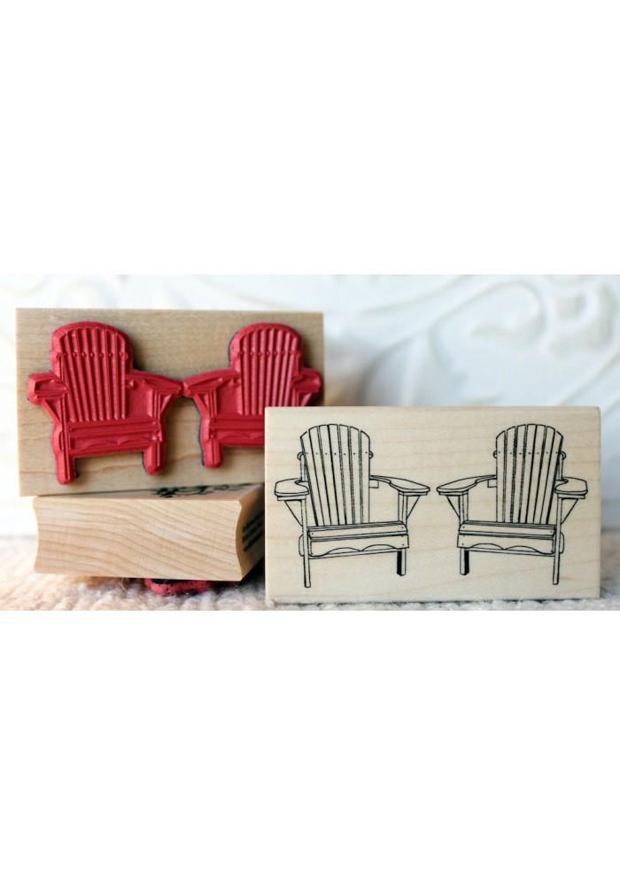 Adirondack Chairs Rubber Stamp