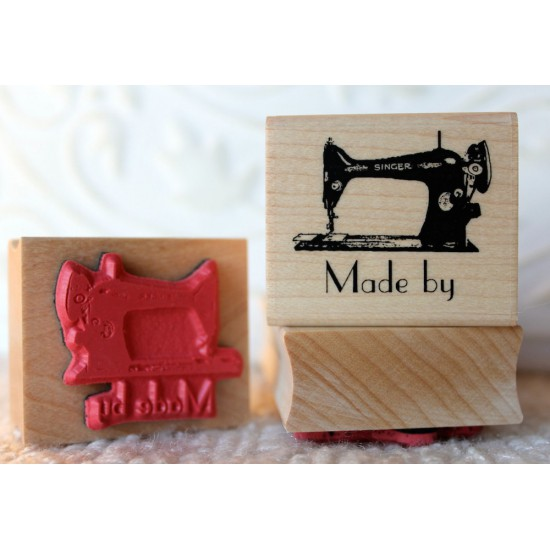 Made by (Sewing Machine) Rubber Stamp
