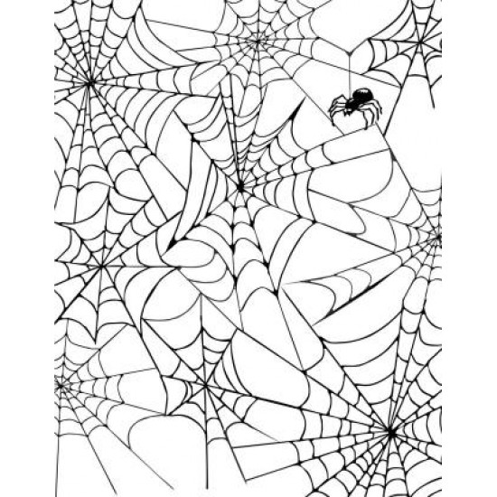 Spider Web Background Rubber Stamp