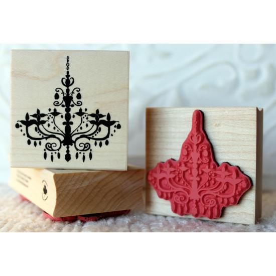 Chandelier Rubber Stamp
