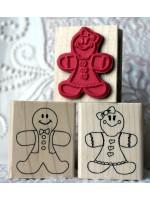 Ginger Gingerbread Girl Rubber Stamp