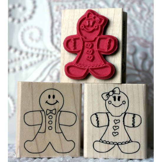 Ginger Gingerbread Girl Rubber Stamp