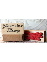 You are a true Blessing Rubber Stamp