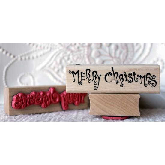 Carmen's Christmas Merry Christmas Rubber Stamp