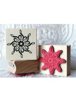 Musical Snowflake Rubber Stamp