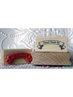 Hand Made By - Banner Rubber Stamp