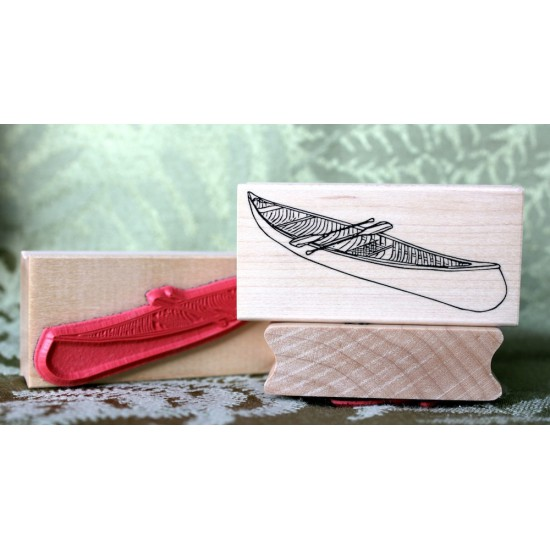 Canoe Rubber Stamp