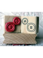 2 Buttons Rubber Stamp