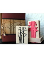 Forest Family Trees Rubber Stamp