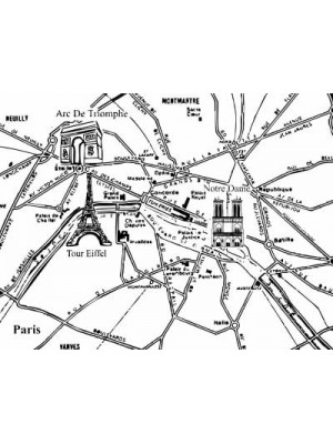 Carte de Paris Rubber Stamp