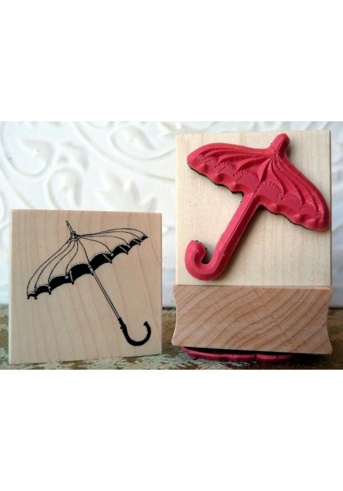 Umbrella Rubber Stamp