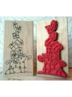 Christmas Sleigh Rubber Stamp