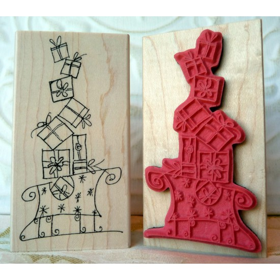 Christmas Sleigh Rubber Stamp