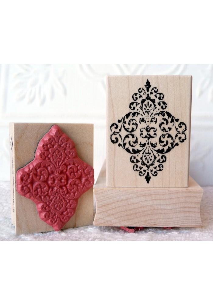 Baroque Ornament Rubber Stamp
