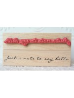 Just a note to say hello Rubber Stamp