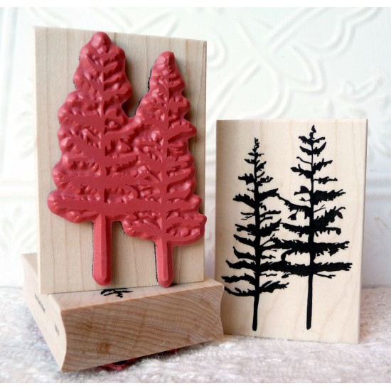 Timber Twins Tree Rubber Stamp