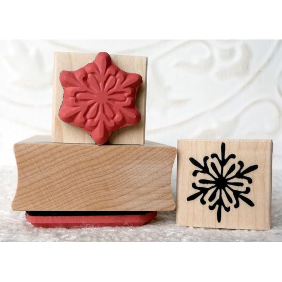 Petite Snowflake Rubber Stamp