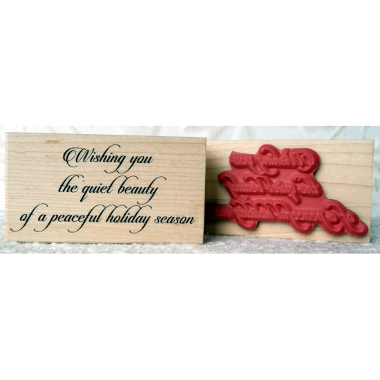 A Peaceful Holiday Season Rubber Stamp