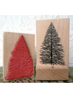 Natural Christmas Tree Rubber Stamp