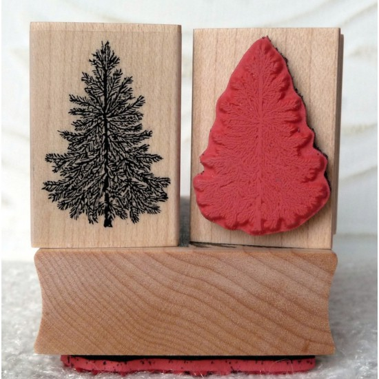 Mini Evergreeen Tree Rubber Stamp