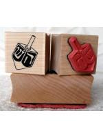 Dreidel Rubber Stamp