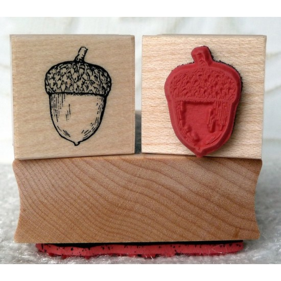 Little Acorn Rubber Stamp