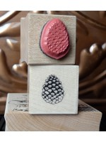 Tiny Pinecone Rubber Stamp