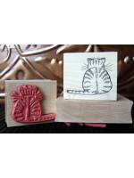 Cat-itude Cat Rubber Stamp