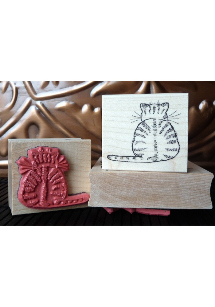 Cat-itude Cat Rubber Stamp