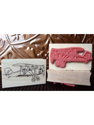Biplane Rubber Stamp
