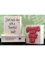 A Thankful Heart Rubber Stamp