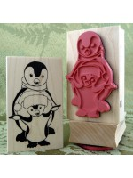 First Steps Penguin Rubber Stamp