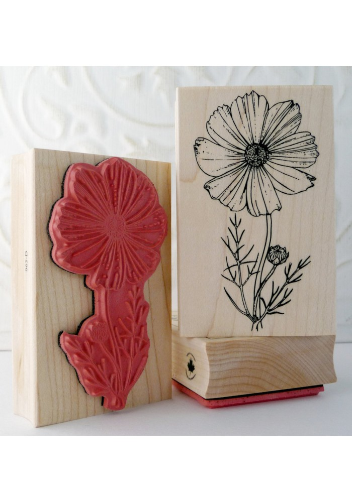 Cosmos Flower Rubber Stamp