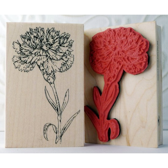 Carnation Flower Rubber Stamp