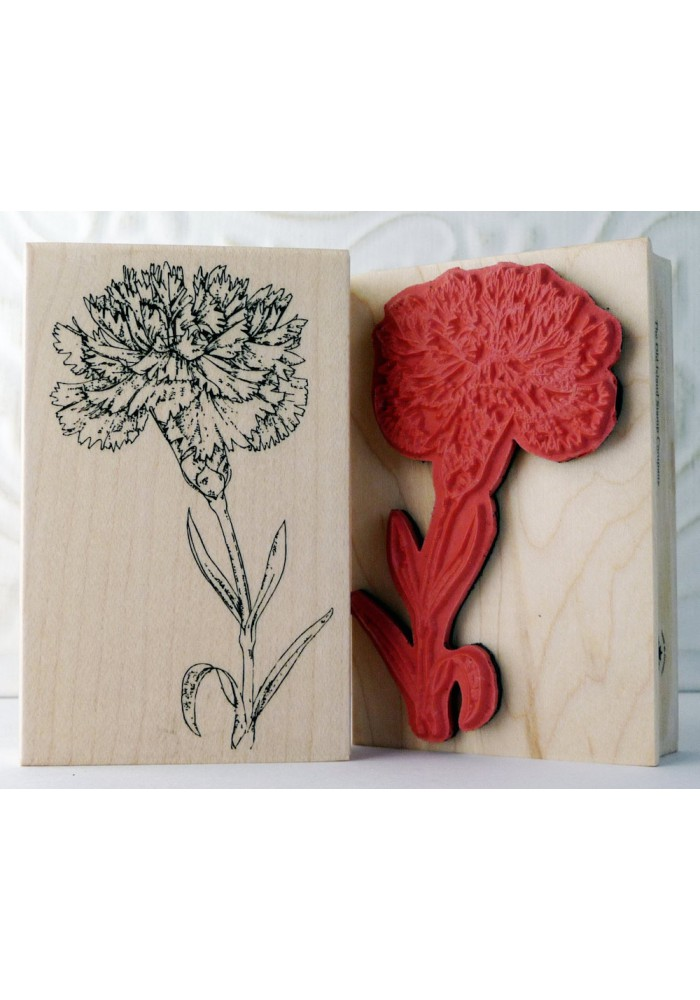 Carnation Flower Rubber Stamp