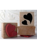 Floating Hearts Rubber Stamp