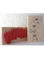 Clematis Rubber Stamp