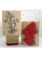 Bellflower Flower Rubber Stamp