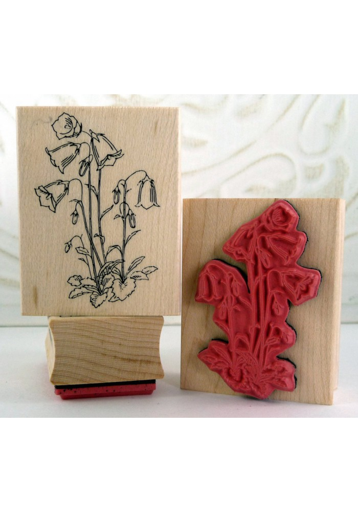 Bellflower Flower Rubber Stamp