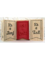 It's A Boy! Banner Rubber Stamp