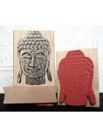 Zen Buddha Rubber Stamp