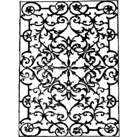 Sydney Iron Lacework Rubber Stamp