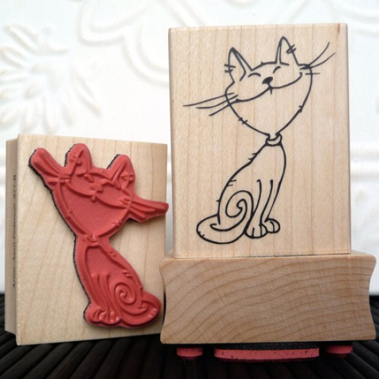 Cheshire Cat Rubber Stamp
